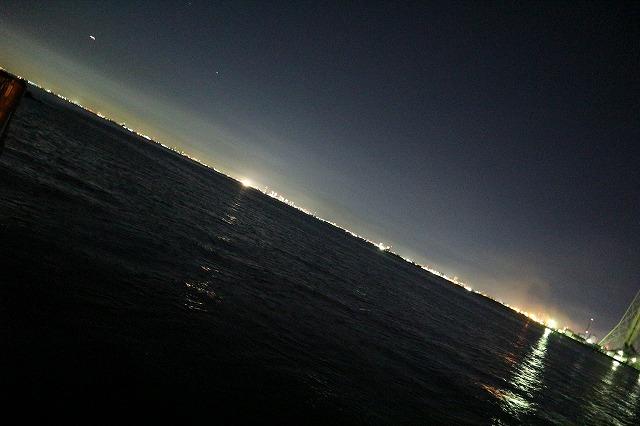 養老川臨海公園の夜景(斜め)