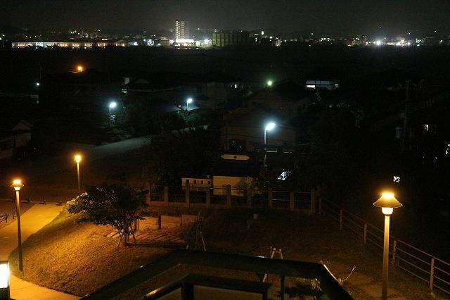 波崎灯台跡公園展望台から公園を見下ろして