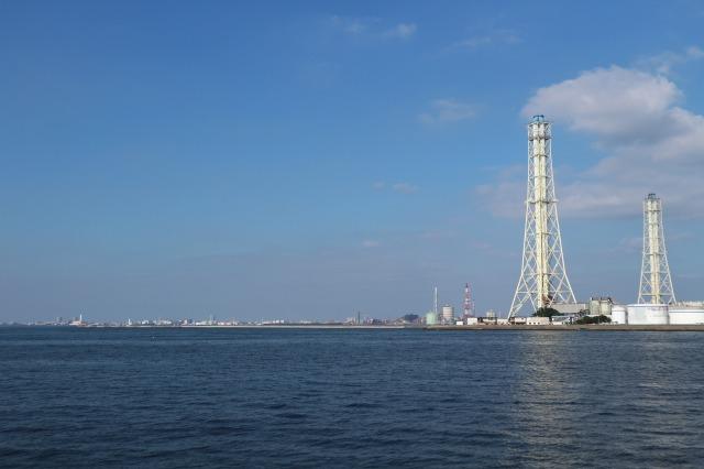 養老川臨海公園-千葉方面を望む