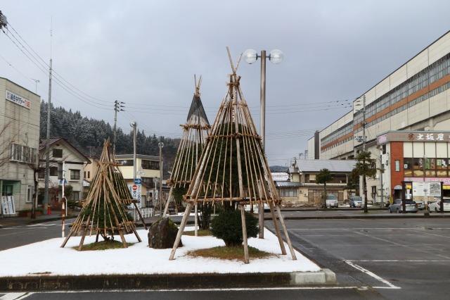 浦佐駅(雪囲い)