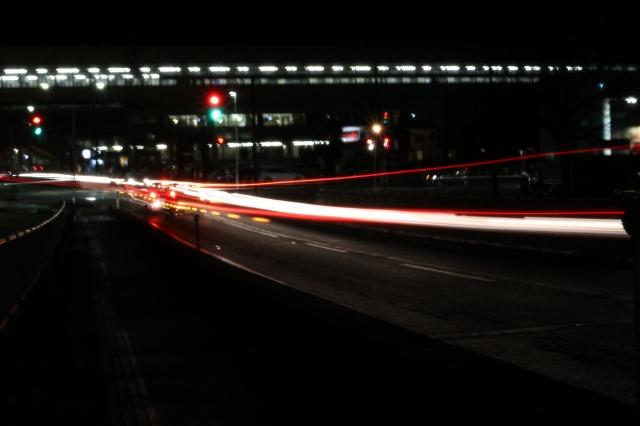 浦佐駅東口(ライト光跡)