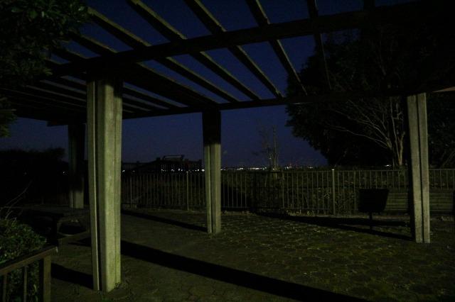 佐原PA上り展望台の様子