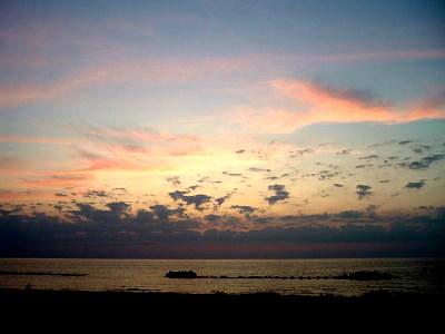 湯野浜の夕日…じゃなくて夕焼け