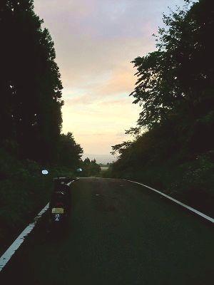 宝谷から鶴岡市街を望む