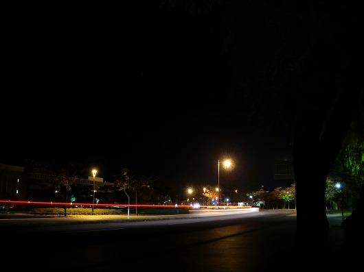 鶴岡公園 羽黒街道 テールランプ