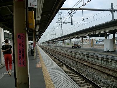 栗橋駅プラットフォーム