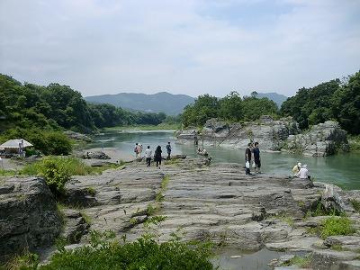 長瀞渓谷の岩畳(荒川)