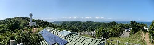 太東崎からは陸地もきれいに見える