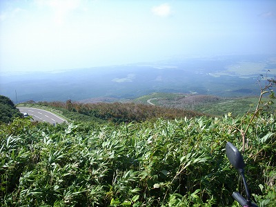 鳥海ブルーライン 秋田側を見下ろす