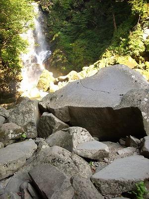奈曽の白滝 岩場