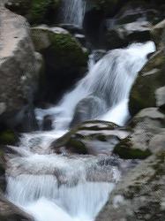 二ノ滝の上の滝 カメラテスト流水モード