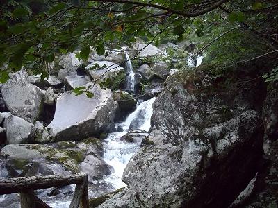 二ノ滝の上の滝